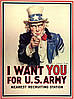 Плакат Дядя Сэм I want you for U.S. Army