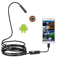 Эндоскоп водонепроницаемый USB IP67 Android бороскоп 5.5mm 1m, фото 1