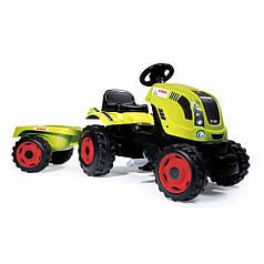 Педальный трактор Claas с прицепом, размер XL SMOBY 710114