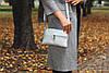 Женская кожаная сумочка 10 серебристый флотар 01100111, фото 3