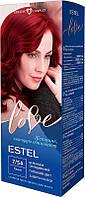 Стойкая крем-краска для волос Estel love тон 7/54, пламя