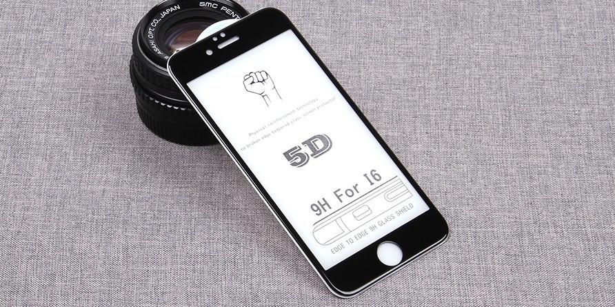 Стекло Full Coverage 5D Iphone 6/6S Black