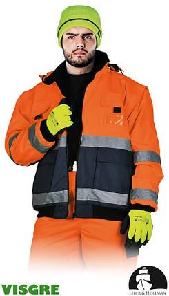 Куртка утеплена флісом сигнальна LH-VIBER PG, фото 2