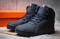 Зимние ботинки на меху в стиле Nike LunRidge, темно-синий (30521)