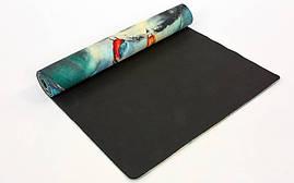 Коврик для йоги Джутовый (Yoga mat) двухслойный 3мм Record FI-7157-3, фото 2