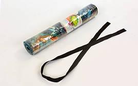 Коврик для йоги Джутовый (Yoga mat) двухслойный 3мм Record FI-7157-3, фото 3