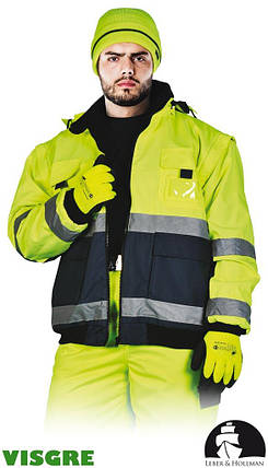 Куртка утеплена флісом сигнальна LH-VIBER YG, фото 2