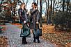 Женская кожаная сумка 12 темно-зеленый флотар, фото 5
