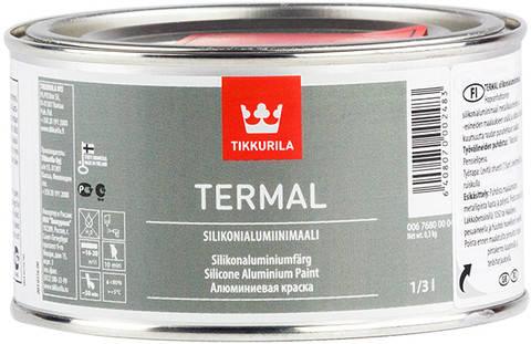 Термостойкая краска Termal, Тиккурила (Tikkurila), 0,33л, цвет-алюминиевый, фото 2