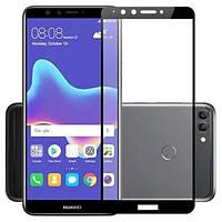 Гибкое защитное стекло Caisles 5D (на весь экран) для Huawei Y9 (2018) / Enjoy 8 Plus Черное