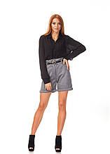 Женские классические шорты с завышенной талией. Ш015