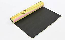 Коврик для йоги Джутовый (Yoga mat) двухслойный 3мм Record FI-7157-5, фото 2