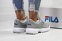 Жіночі зимові кросівки Fila,сірі,на хутрі 38р, фото 3