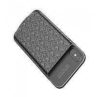 Чехол-аккумулятор Baseus Plaid для iPhone X 3600mAh Чёрный