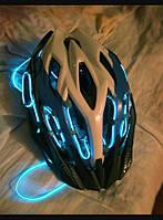 Неонова подсветка шлема—гибким неоном. 10цветов на выбор!