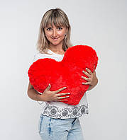 Плюшевая игрушка Mister Medved Подушка-сердце Красная 50 см, фото 1