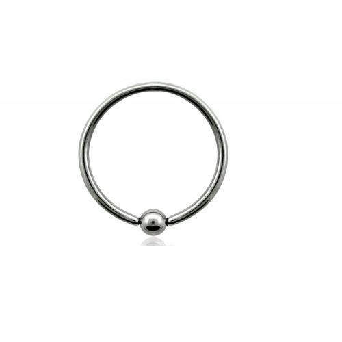 Пирсинг кольца с зажатым шариком титановые 117767