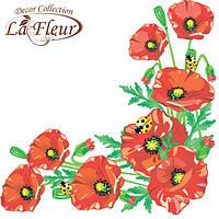 """Столовые салфетки ТМ """"La Fleur""""  Маковое поле"""