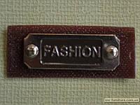 Шеврон №1 2х5см Fashion коричневый