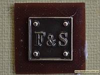 Шеврон №3 3,5х3,5см FS коричневый