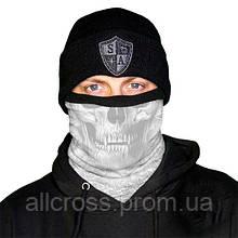Зимний бафф со светлым черепом Череп - Призрак