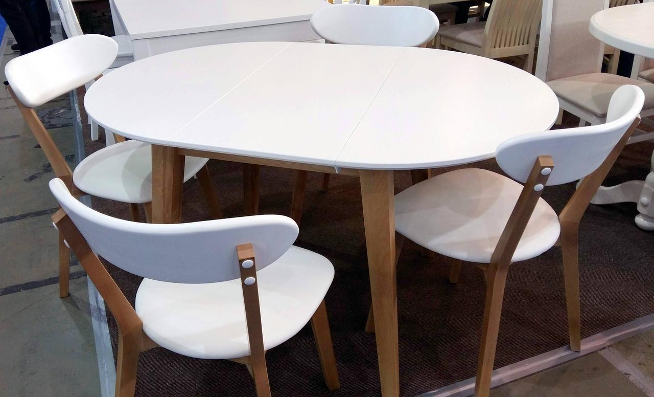 Обеденный стол в скандинавском стиле Женова 1100 GOOD WOOD Рускополянский Мебельный Комбинат Явир