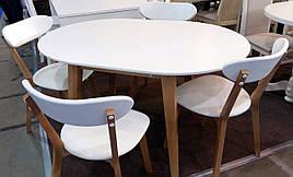 Обідній стіл в скандинавському стилі Женова 1100 GOOD WOOD Рускополянский Меблевий Комбінат Явір