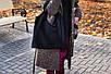 Женская кожаная сумка 15 черная замша 01150501, фото 3