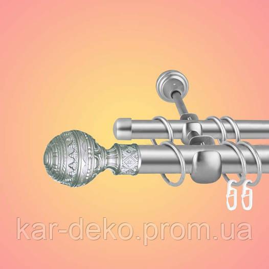 Карнизы двухрядные металлические настенные гоа