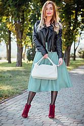 Женская сумка кожаная  16 светло-бжевый флотар 01160108