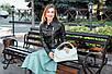 Женская сумка кожаная  16 светло-бжевый флотар 01160108, фото 4