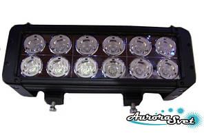 LED балка120 Ватт двухряднаянезаменимый вариант дополнительного освещения в ночное время.