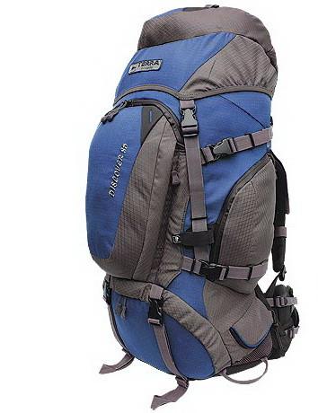 Рюкзак TERRA Incognita Discover 55 TIR009 туристичний синій/сірий