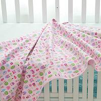 Непромокаемая двухсторонняя пеленка бамбуковая махра +дышащая мембрана+ фланель. Размер 30Х40 см. Совы