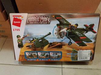 """Конструктор 1705 """"Військовий літак"""" від компанії Brick, 187 деталей"""
