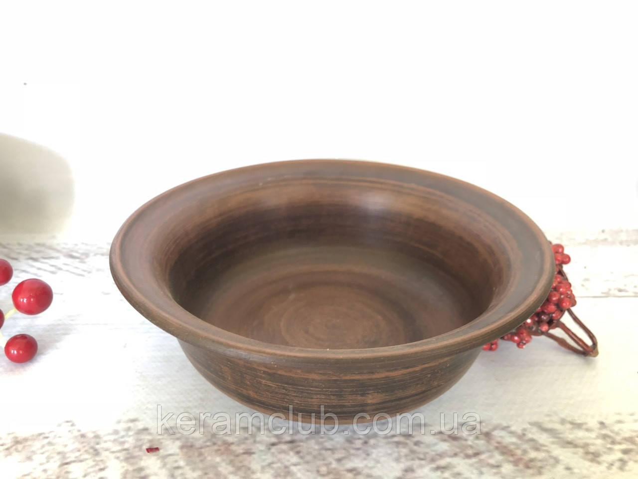 Керамическая миска из красной глины 600 мл