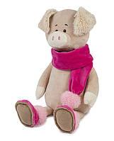 Мягкая игрушка Maxi Toys Свинка Ася в шарфике 28 см (MT-MRT031813-28)