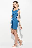 Платье женское с бантом на груди 68P520 (Джинс)