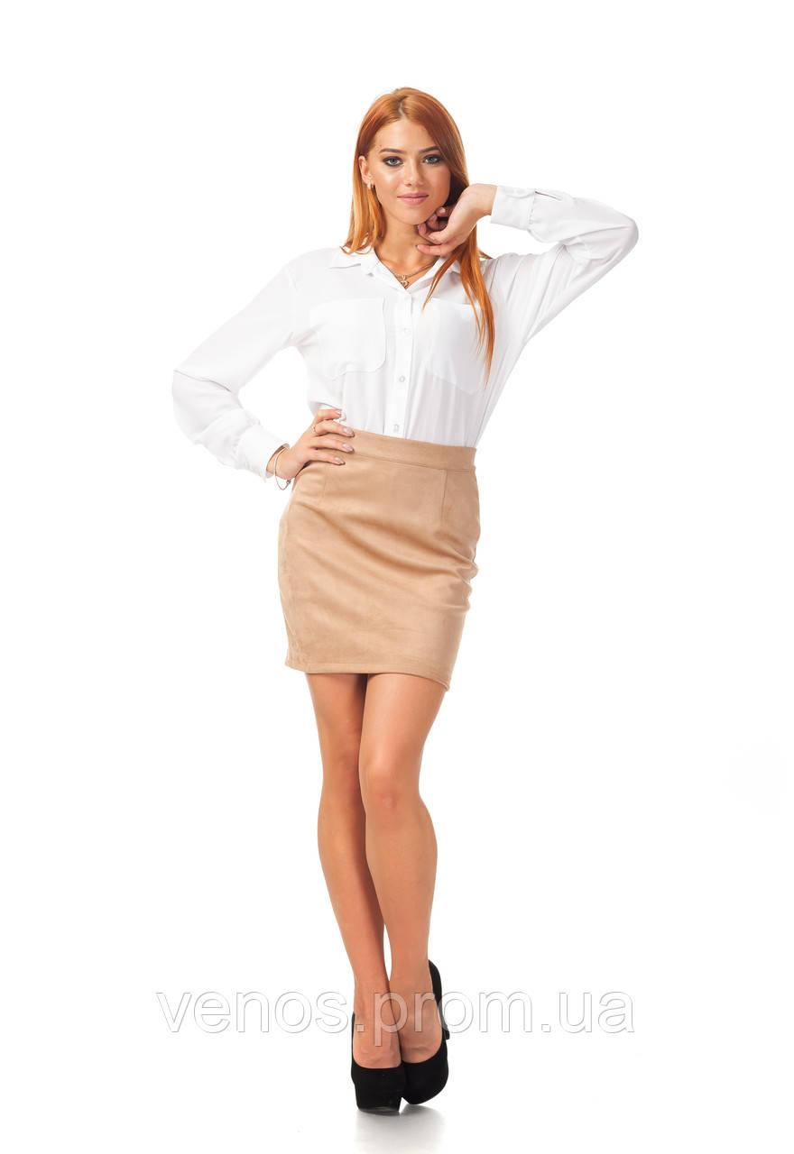 Женская классическая короткая юбка. Ю096