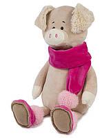 Мягкая игрушка Maxi Toys Свинка Ася в шарфике 33 см (MT-MRT031813-33S)
