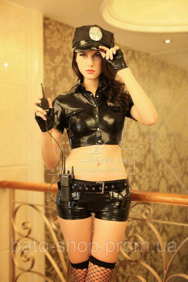 Женский костюм секси полицейской S/M
