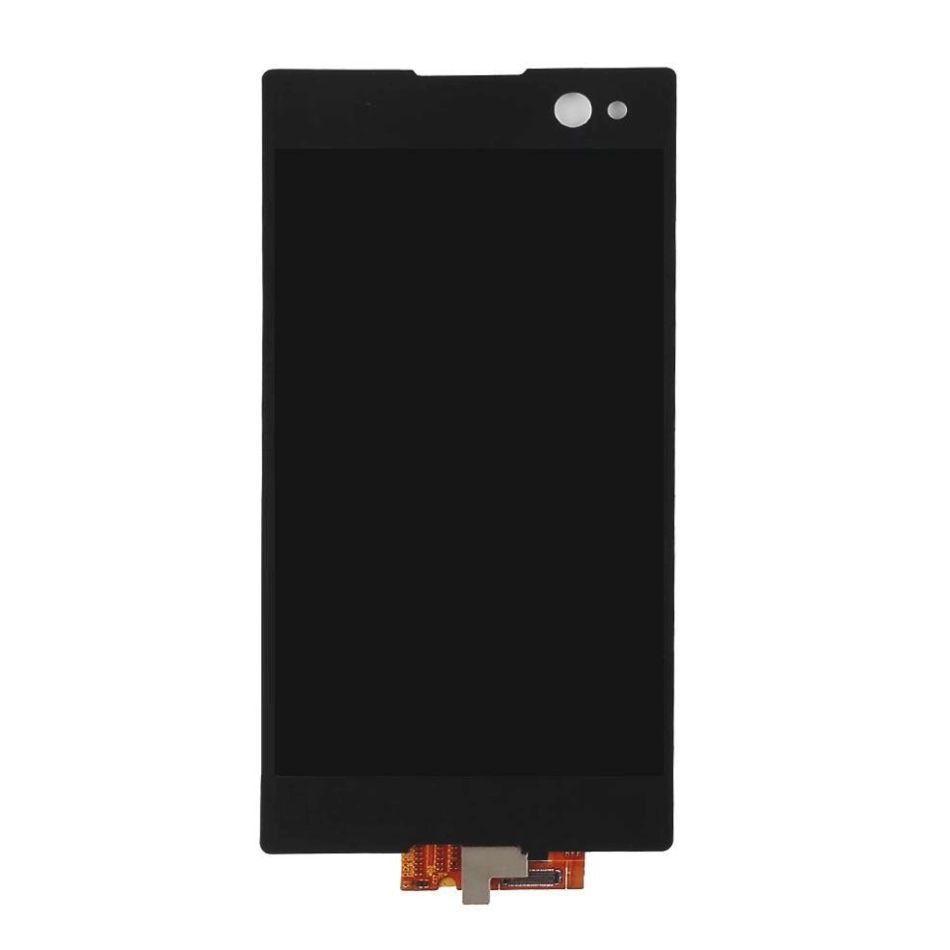 Дисплей для Sony D2502 Xperia C3 Dual Sim/D2533 с тачскрином черный Оригинал