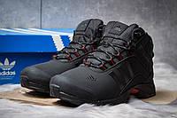 Зимние ботинки на меху в стиле Adidas Climaproof, черные (30501),  [  41 42 43 44 45  ]