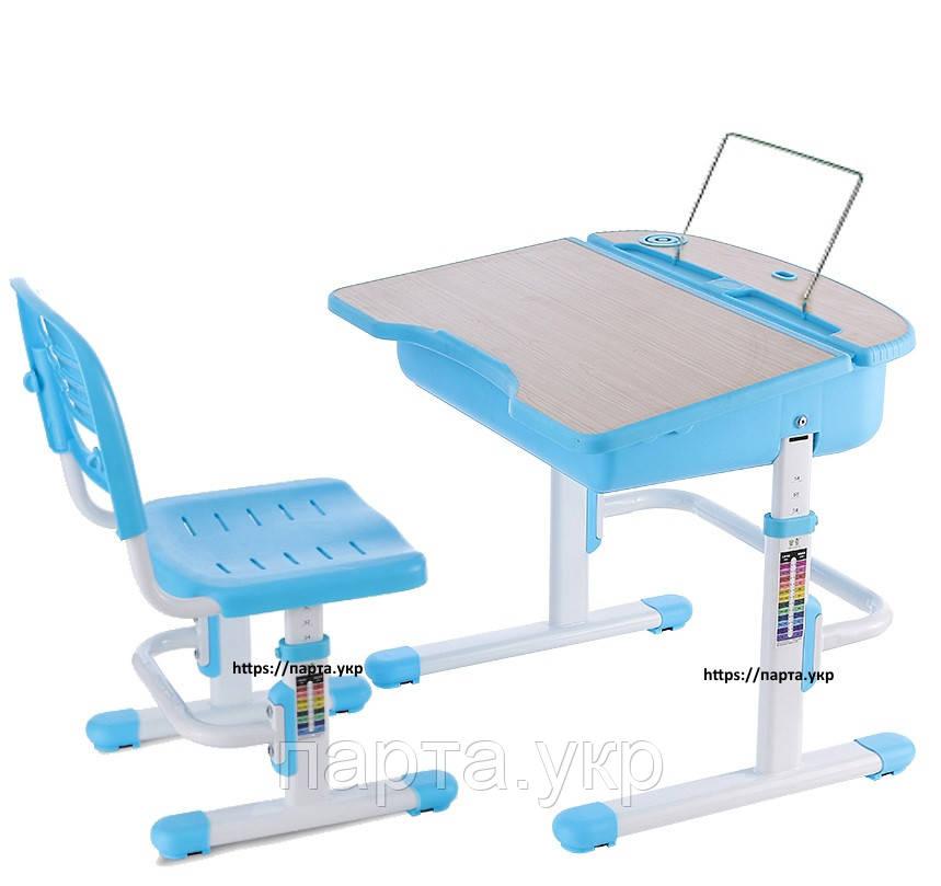 Комплект парта та стілець  блакитного кольору