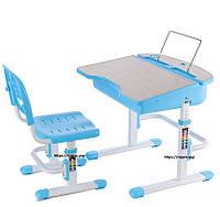 Комплект парта та стілець  блакитного кольору, фото 1