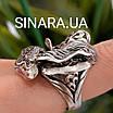 Роскошный серебряный комплект: серьги и кольцо с чернением и фианитами, фото 7