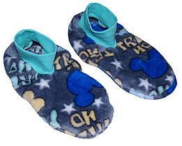 Тапочки - ботиночки детские домашние махровые 18205 Микки Маус длина подошвы 23 см