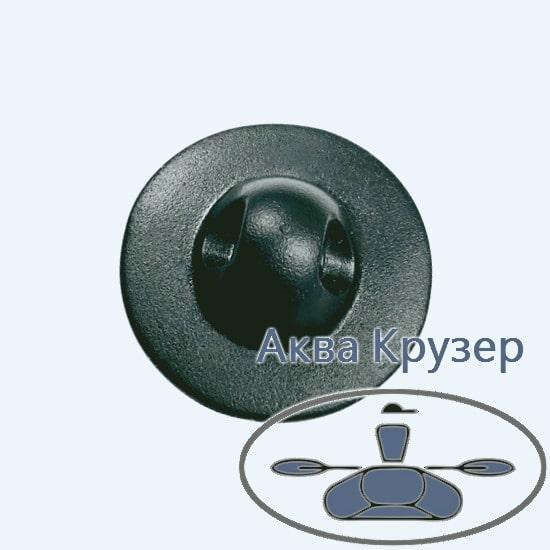 Лееродержатель малий, основа ø 50 мм, колір чорний, для надувних човнів ПВХ, байдарок