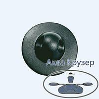 Лееродержатель малый, основание ø 50 мм, цвет черный, для надувных лодок ПВХ, байдарок