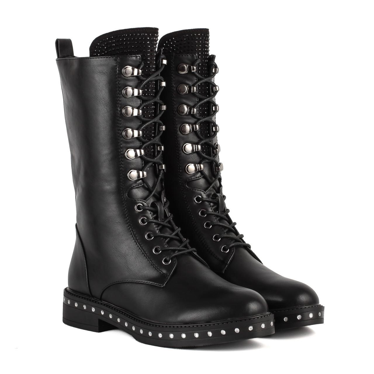 35b29c78 Купить Ботинки женские Vensi(высокие, стильные, со шнуровкой ...